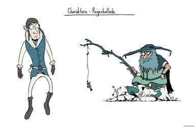 Regenballade Characters by Cratefruit