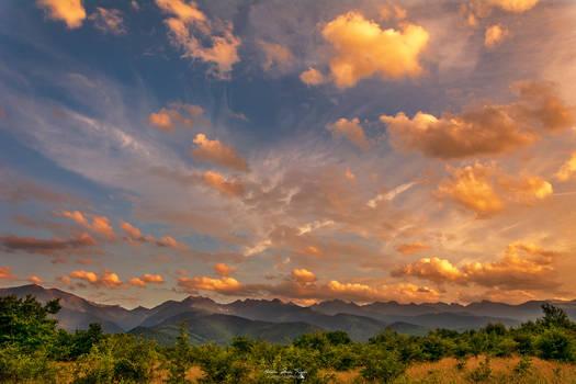 Beautyful sunset sky