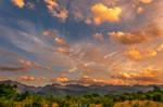 Beautyful sunset sky by trekking-triP
