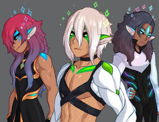 3 more kanoran ocs by DawnoftheBlueMoon