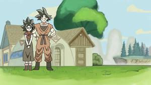 Goku x Caulifla Family