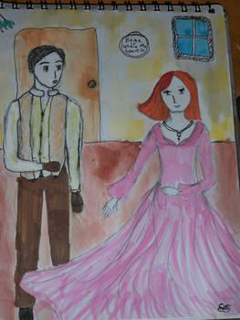 Second Meeting of Jon and Alanna by dragonladyofthelake