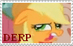 Applejack Derp Stamp by Chocolate-Revolution