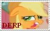 Applejack Derp Stamp by Chocolate-Revolution