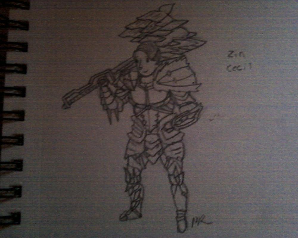 Cartoony me in Zinogre armor by Masikit