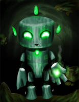 Emerald Golem Pet by froidchat