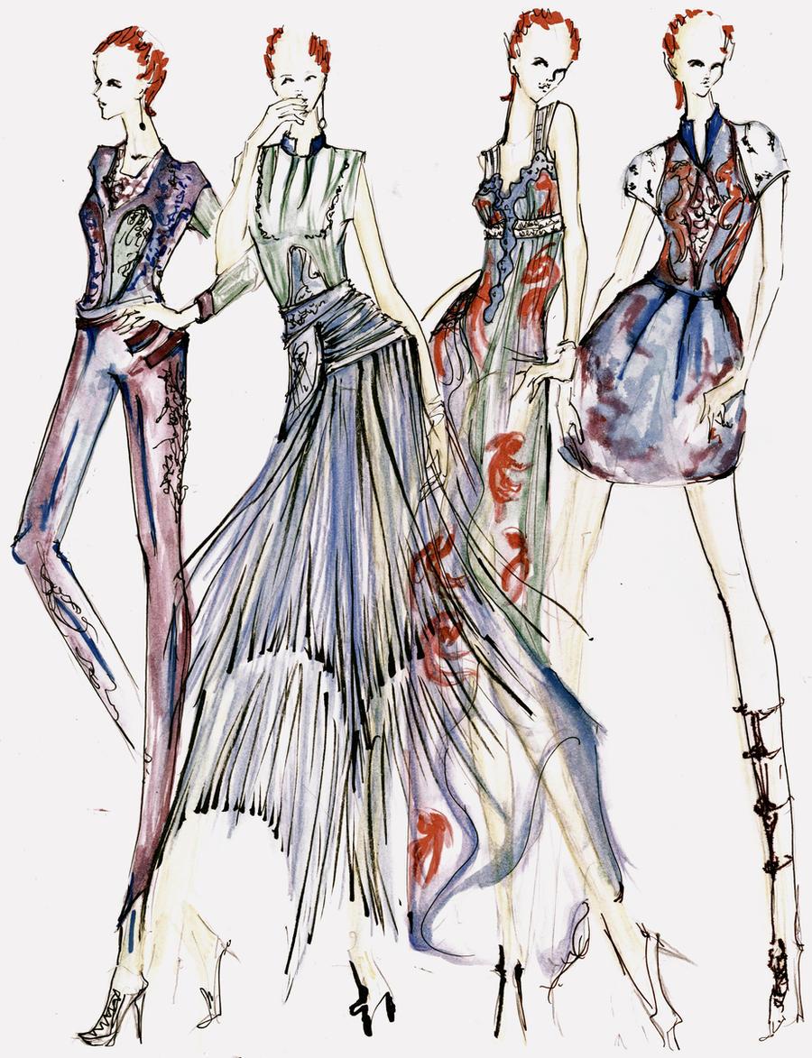 Yoyo S Fashion Sketch For Balenciaga By Yoyo Han On Deviantart