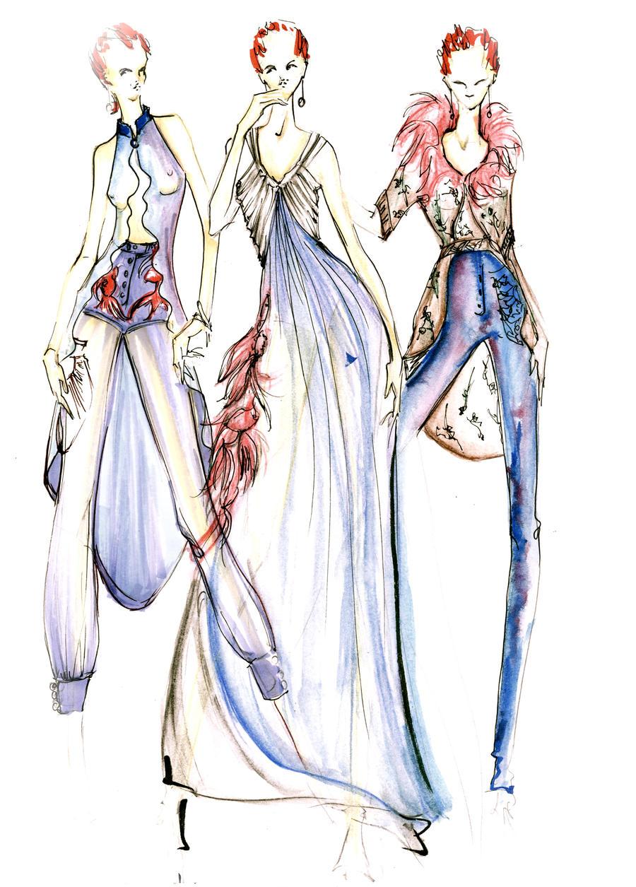 yoyos fashion sketch for balenciaga by yoyo-han on DeviantArt