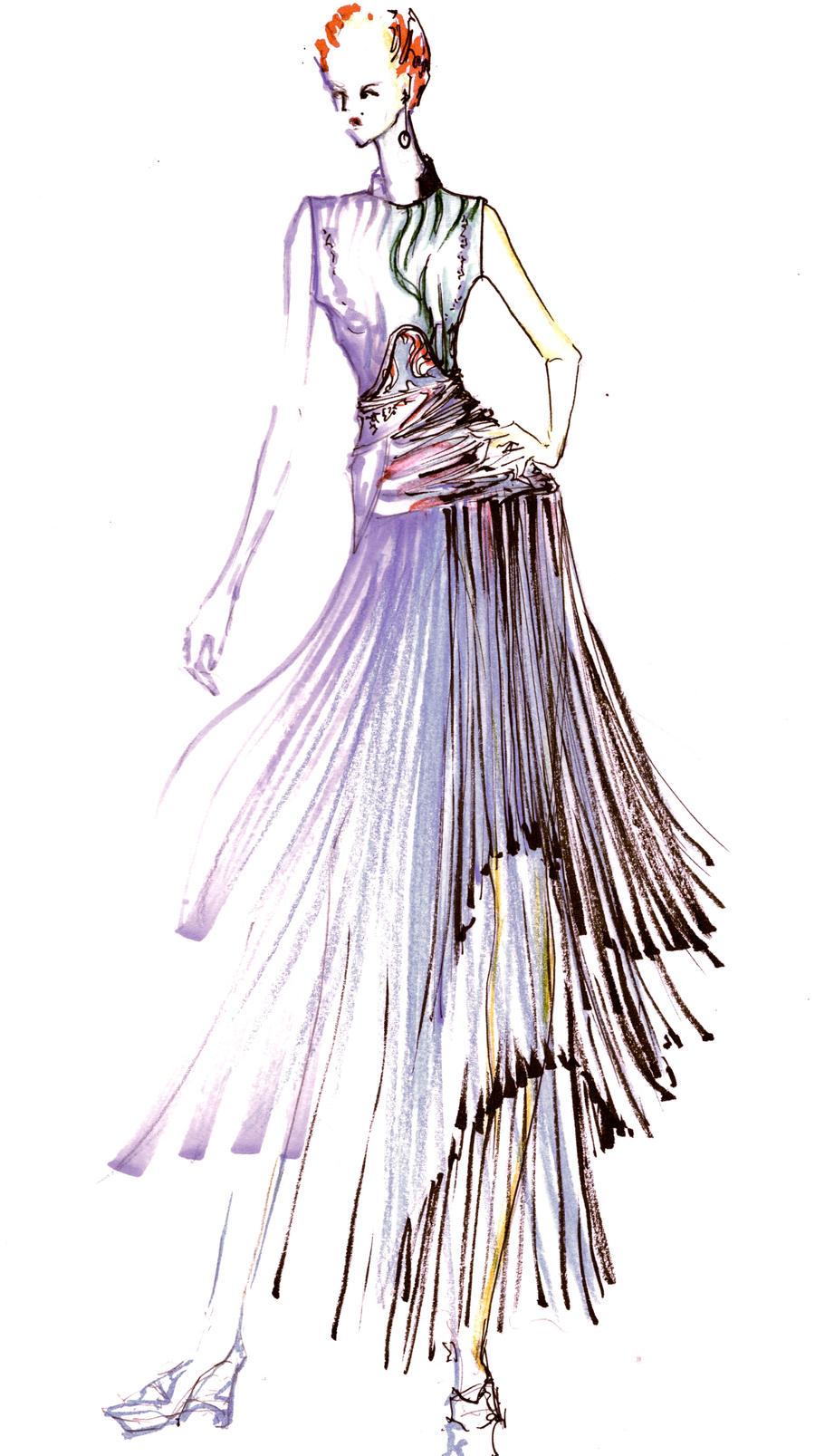 Fashion Design Croquis Drawing