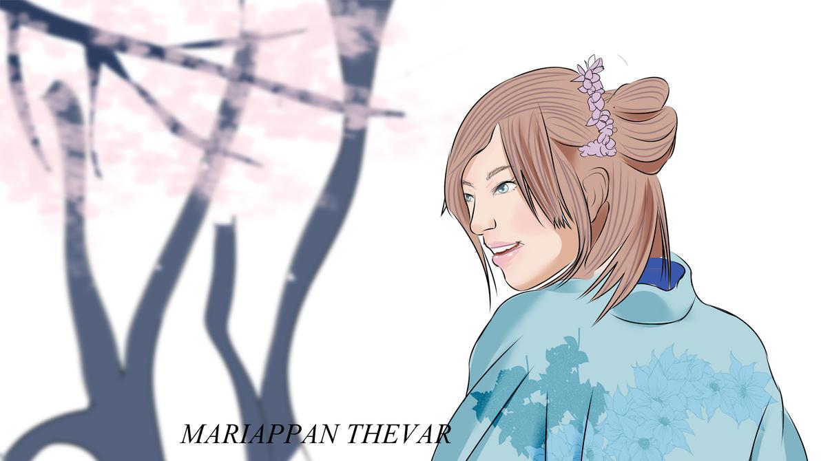 japanese kimono girl by marithevar