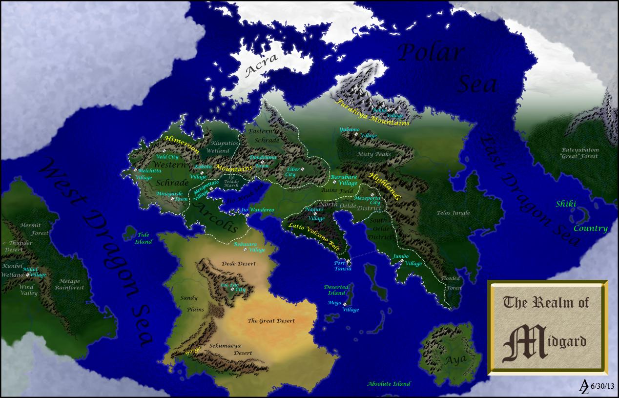 Monster Hunter Map by Azophel