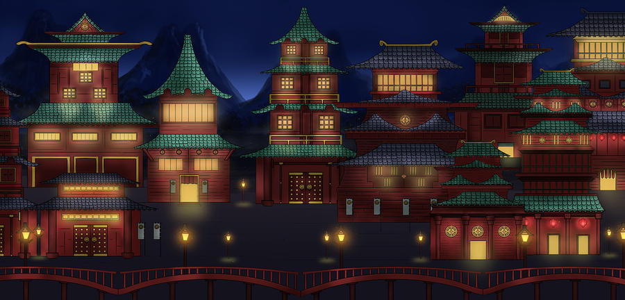 Oriental Town by Narandel on deviantARToriental town