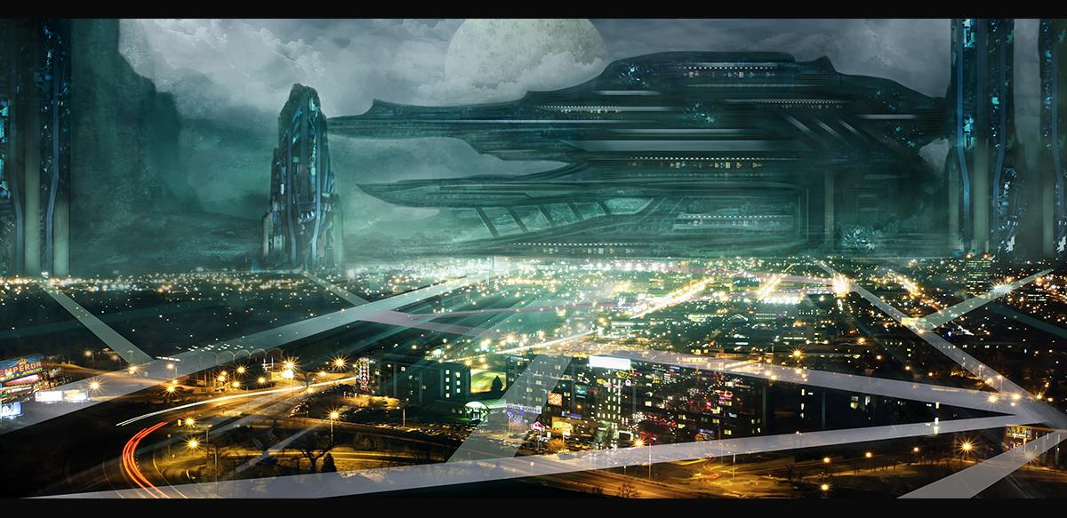 Sci-Fi Cityscape 01 by Narandel