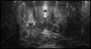 Interior Environment Sketch by Narandel