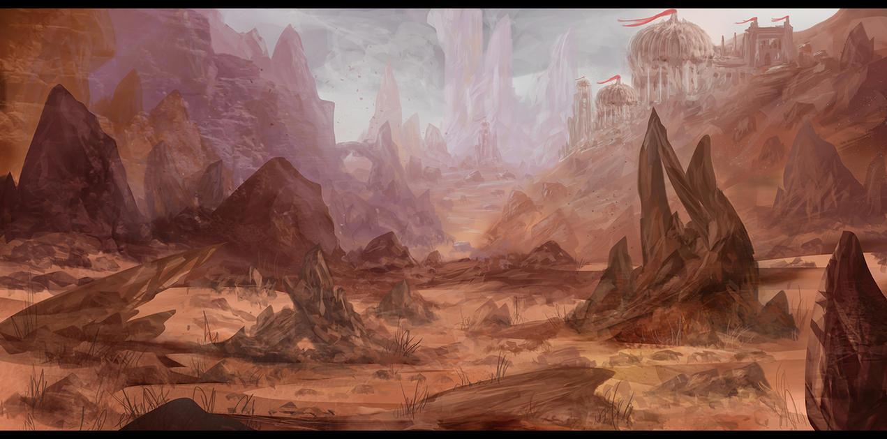 Desert Outpost by Narandel