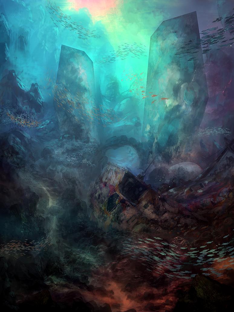 30 Stunning Underwater Digital Paintings Voiceable