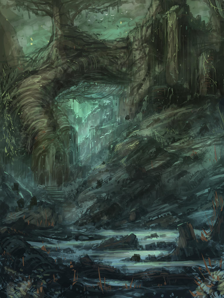 Forest Ruins by Narandel