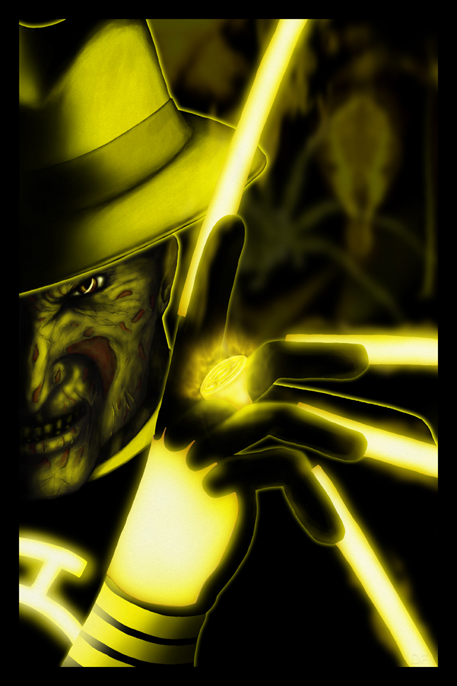 Yellow lantern scarecrow