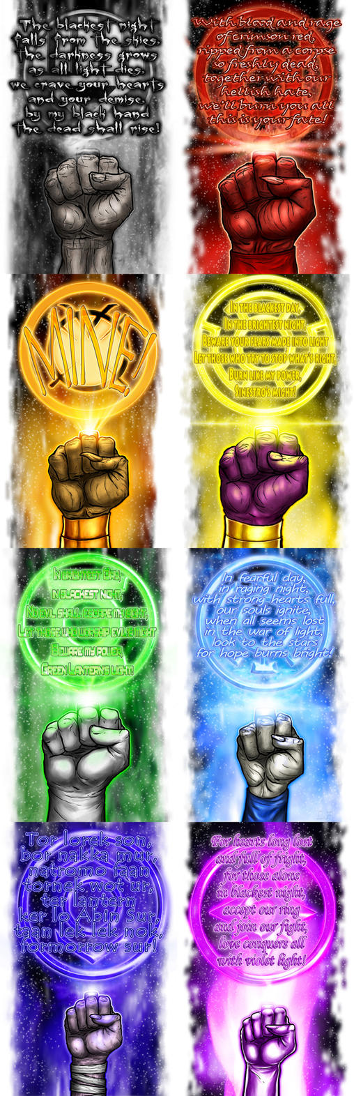 Lantern Corps Oaths by halwilliams on DeviantArt