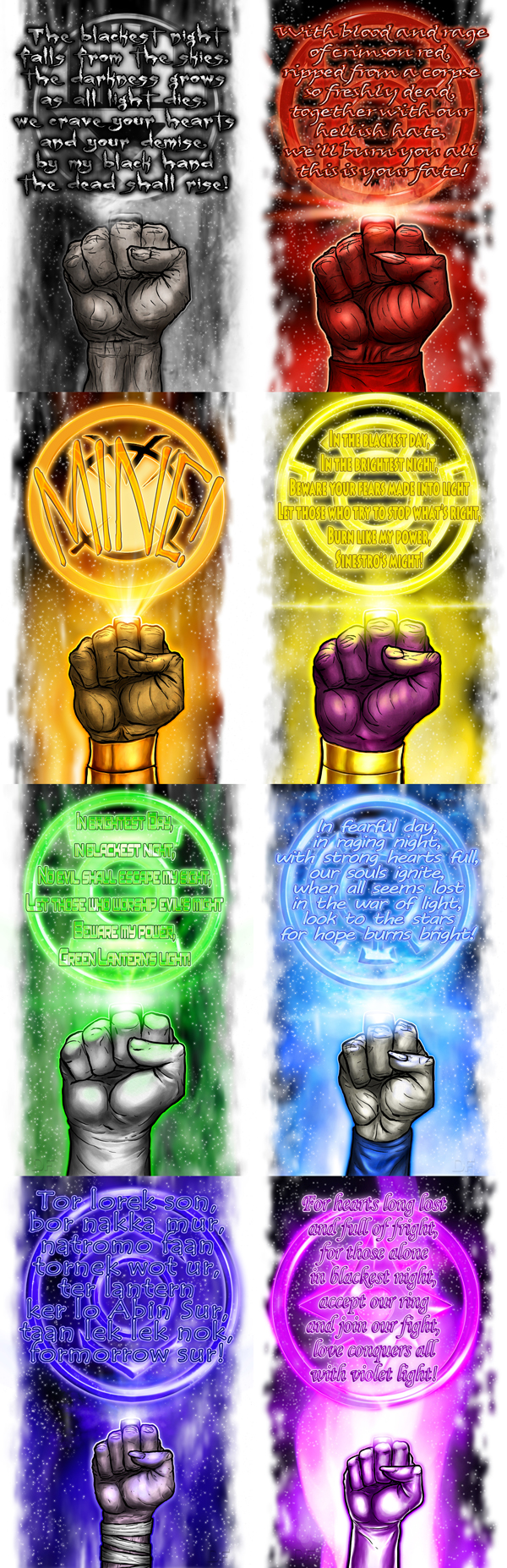 Lantern Corps Oaths by halwilliams