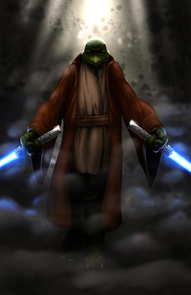 Leonardo, the turtle Jedi by halwilliams