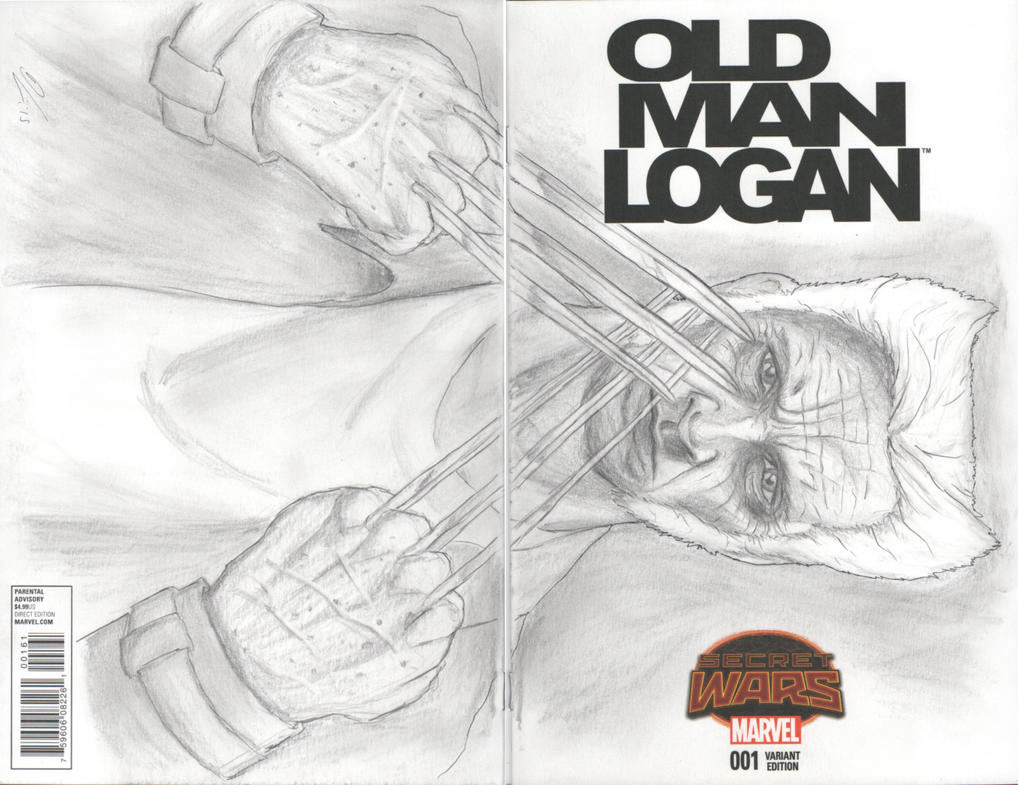 Old Man Logan sketch cover by halwilliams