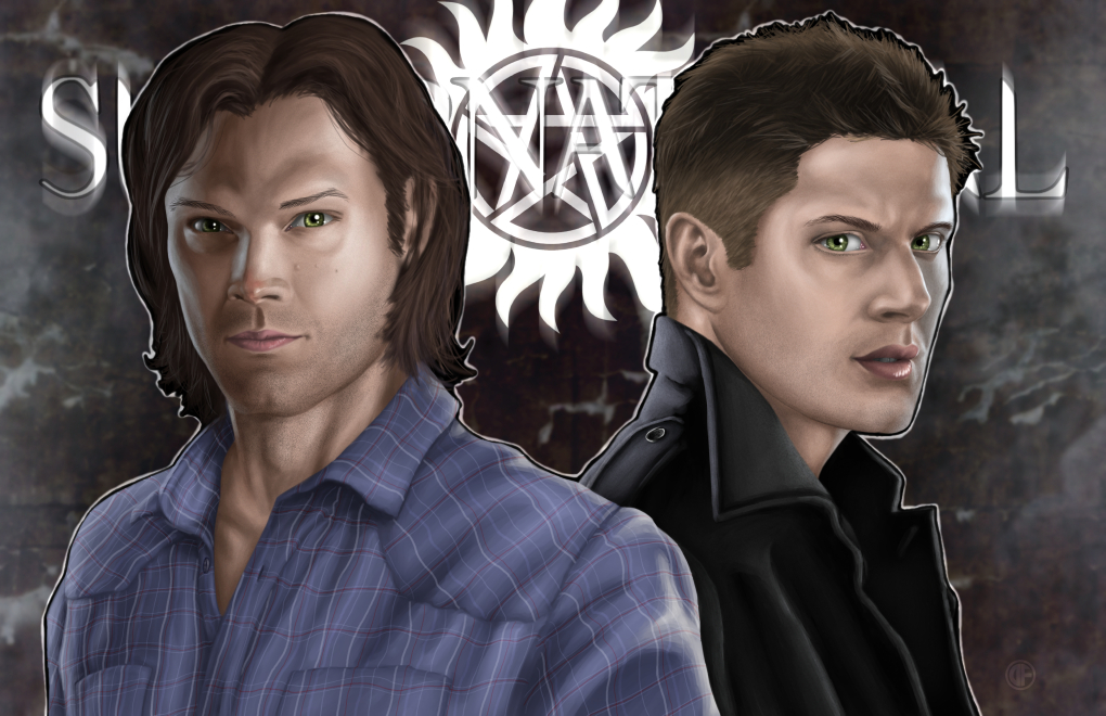 Sam and Dean Winchester by halwilliams