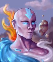 Aang - Avatar The Last Airbender Fanart by Brumicek
