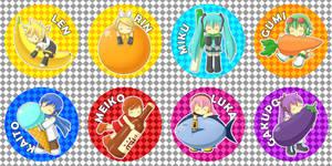 Vocaloid Chibi Badges