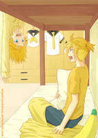 Kagamine Twins: Good Morning by miyuki-yoshiharu