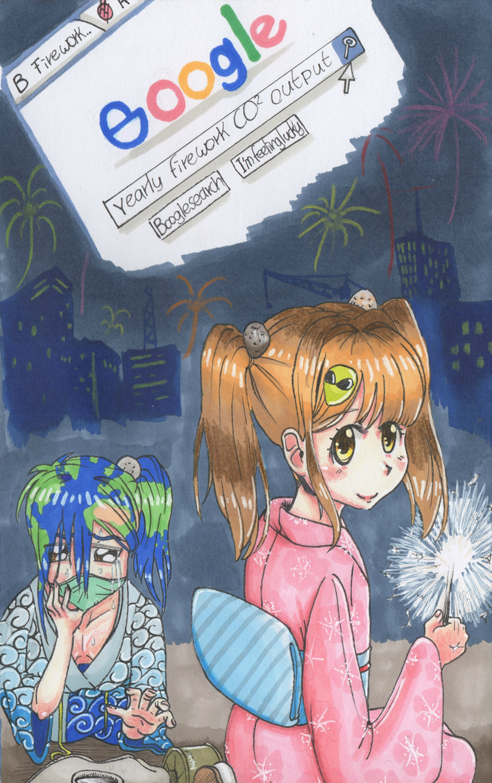 No Fireworks for Earth-chan by AverageGuardLucas