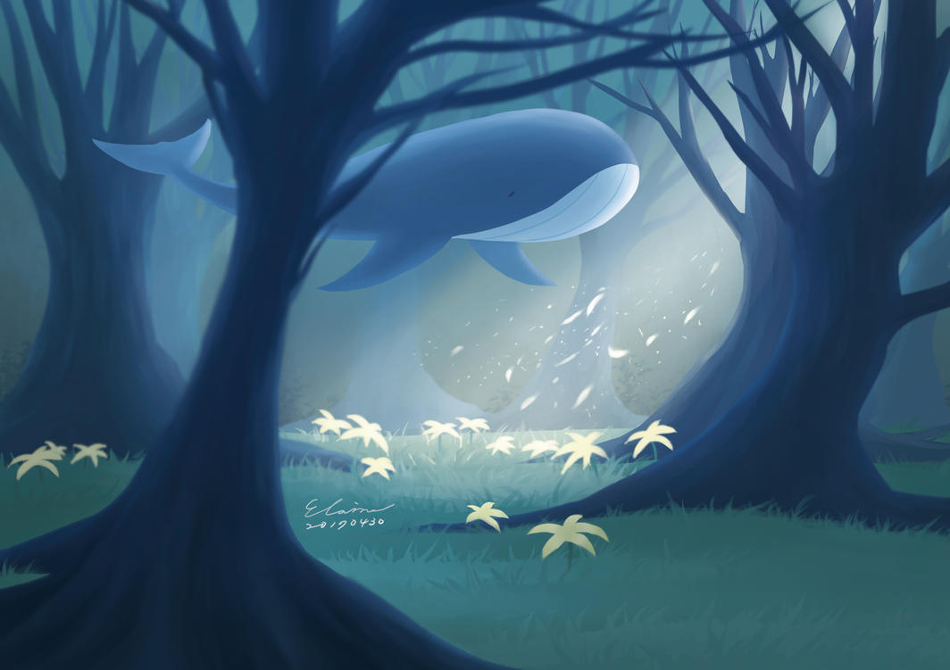 Whale in the Forest by elainechen