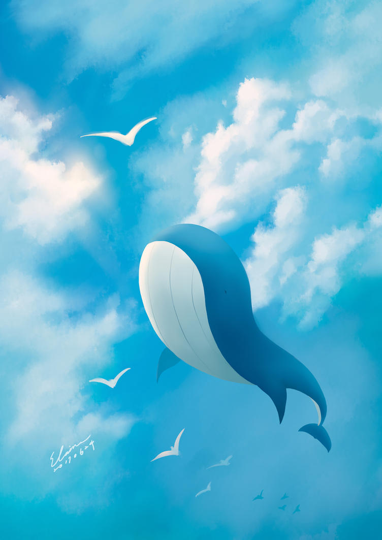 Whale over the Sky by elainechen