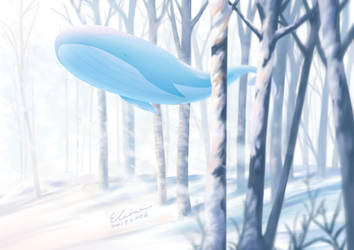 Whale with Snow by elainechen