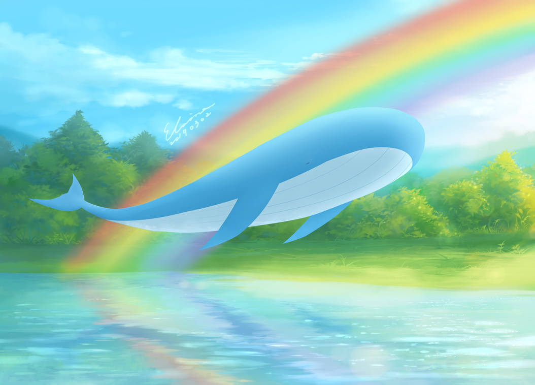 Rainbow and the Whale by elainechen
