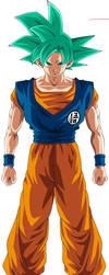 Goku Super Saiyan God (Dimension 67) by noahk15