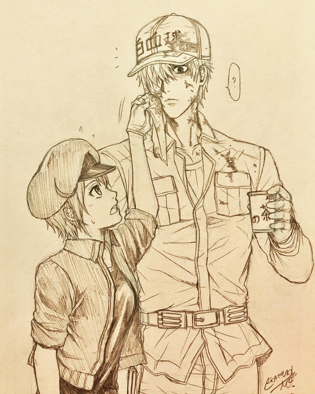 White blood cell x red blood cell by akatsuki mo on deviantart