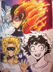 Boku no Hero Sketches by TaiyakiPress