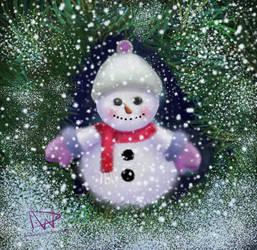 Snowman in Spruce
