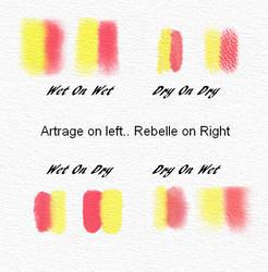 Artrage Vs Rebelle Watercolor