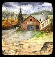 Derry Bus Barn - Watercolor