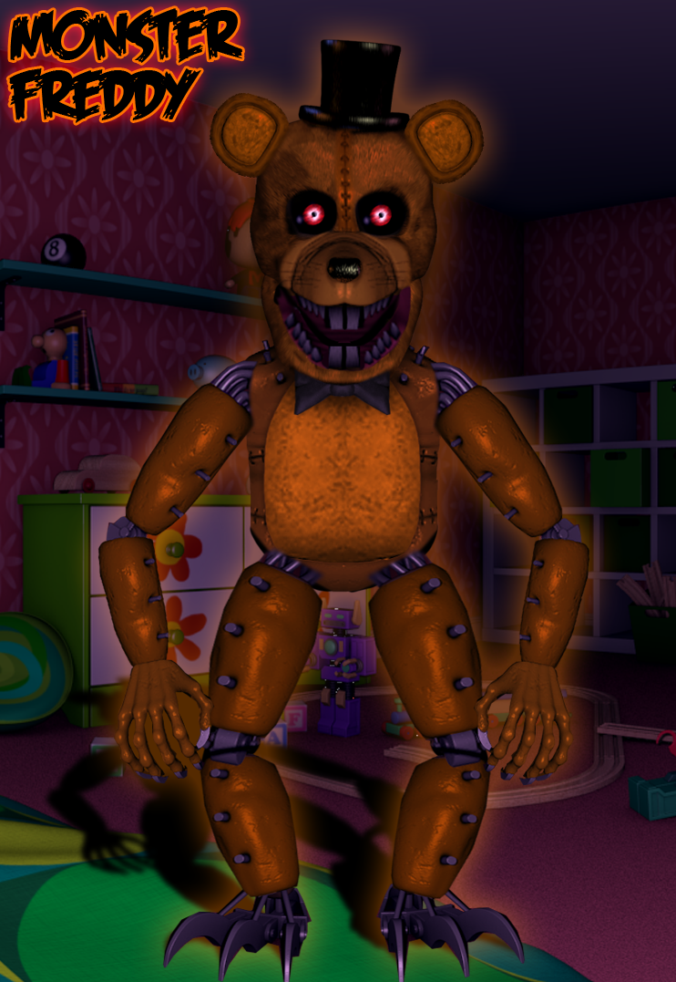 Monster Freddy by BlackFoxPixels on DeviantArt