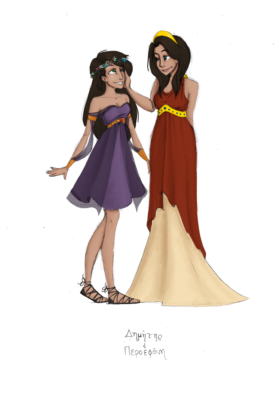 Hera Greek Goddess Cartoon Greek goddesses: demeter and
