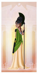 Greek Goddess - Athena PRINT by JadeAriel