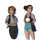 Modern Artemis and Athena