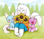 .:COLLAB:. Buster, Puffy and Nubu in a field