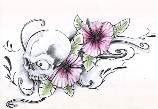 tattoo sketch - flower tattoo
