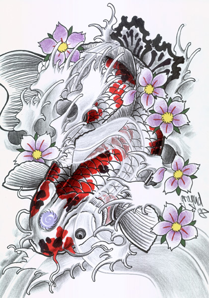 Japanese Koi Fish Tattoo Designs Gallery 5