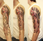 koi fish on arm 2