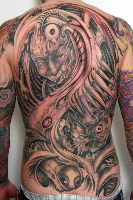 demon monster backpiece by graynd